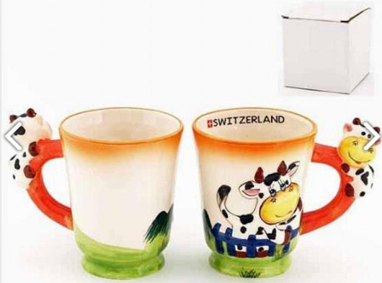 COLOURFUL COW MUG
