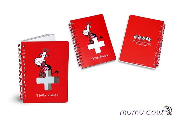 SPIRAL NOTEBOOK MUMU COW RED 10.5x14.8cm