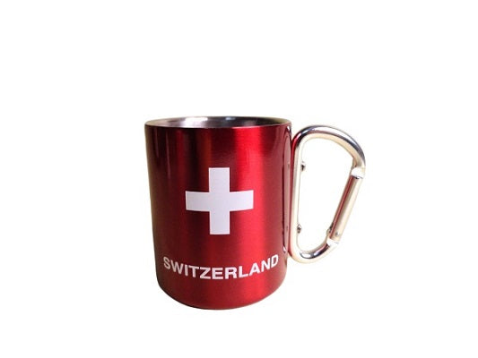 STAINLESS STEEL MUG RED CH 8cm