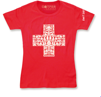 T-S RED DECOUPAGE CH CROSS, T-S-POLAIRES-PULL-BODY-PYJAMA