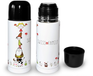 THERMOS BOTTLE 350ml SWISS FAMILY