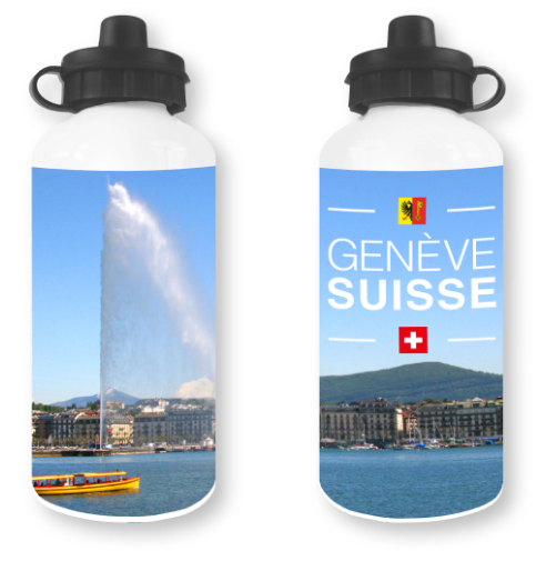 WHITE WATER BOTTLE 500ml GENEVA JET D'EAU