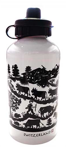 WHITE WATER BOTTLE 500ml PAPER CUTTING