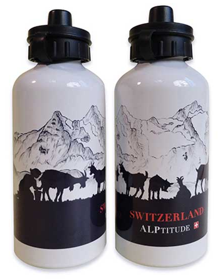 WHITE WATER BOTTLE ALPTITUDE HEIDI & PETER 500ml