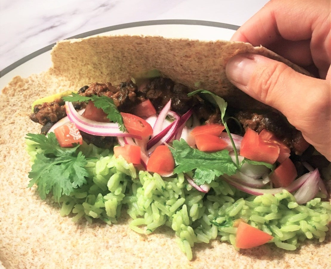Chilli Beef Burritos – your working-from-home lunch solution!
