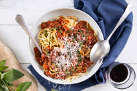 Frozen cook food bolognese ragu