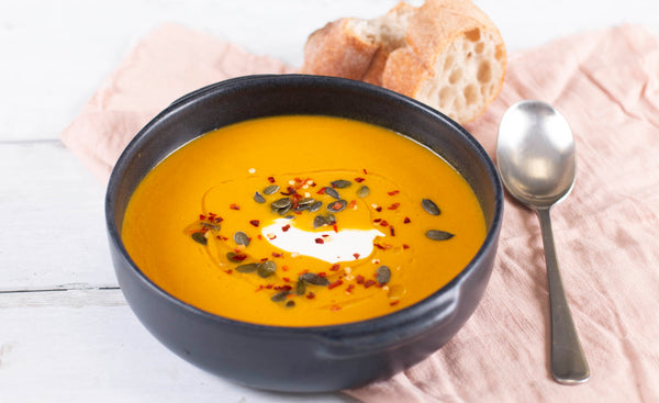 Frozen cook food carrot ginger soup