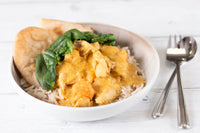 Frozen cook food chicken sweet potato curry