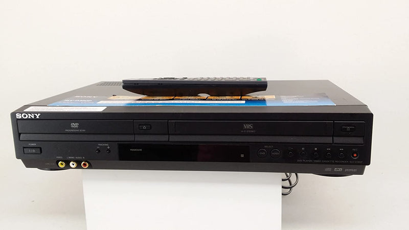 SONY SLV-D380P DVD Player, Tuner-less VCR Video Cassette Recorder Combination, CD/Hi-Fi Stereo VHS Player. AV cable included. No Remote.
