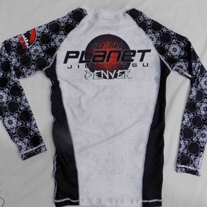 Men's 10PD White Belt Rash Guard (Long Sleeve)