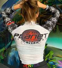 Load image into Gallery viewer, Women's Cut 10PD White Belt Rash Guard (Long Sleeve)