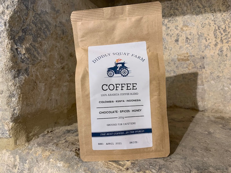 Diddly Squat Farm Arabica Coffee Blend Ground for Cafetière 200g