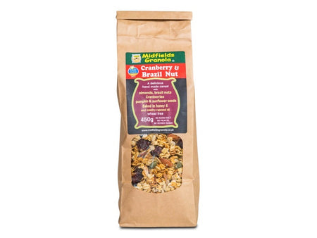 Midfields Cranberry & Brazil Nut Granola Wheat Fee 450g