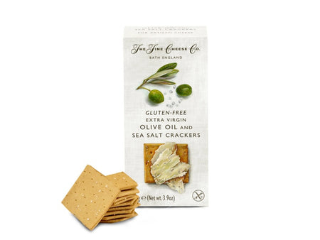 The Fine Cheese Co - Gluten Free Olive Oil & Sea Salt Crackers