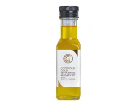 Cotswold Gold Rapeseed Oil / White Truffle is available from the Cotswold Cheese Company. A local Cotswolds shop in the heart of the Cotswolds