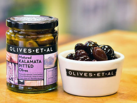 Greek Kalamata Pitted Olives – Jar 250g