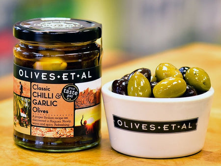 Classic Chilli & Garlic Olives – Jar 250g