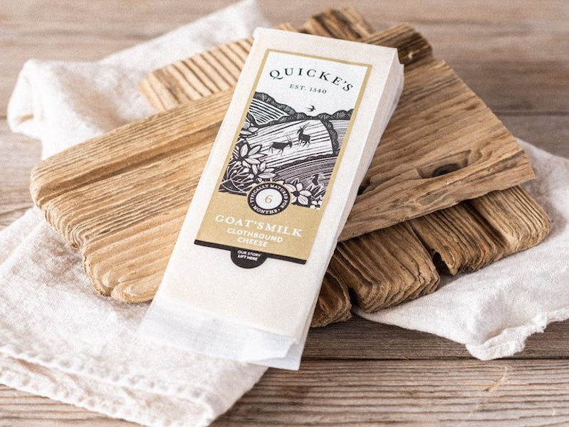 Quicke's Goat's Milk Clothbound Cheese 250g