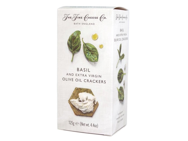 Fine Cheese Co - Basil and Extra Virgin Olive Oil Crackers