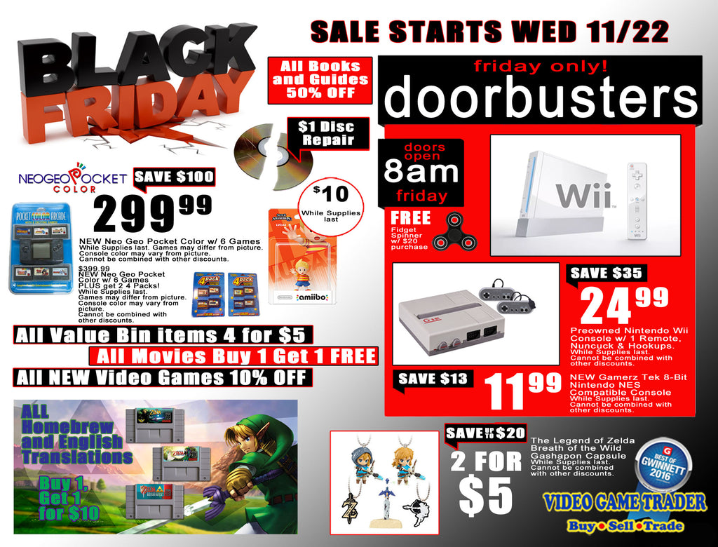 Video Game Trader - Black Friday 2017!