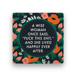 Happily ever after floral coaster
