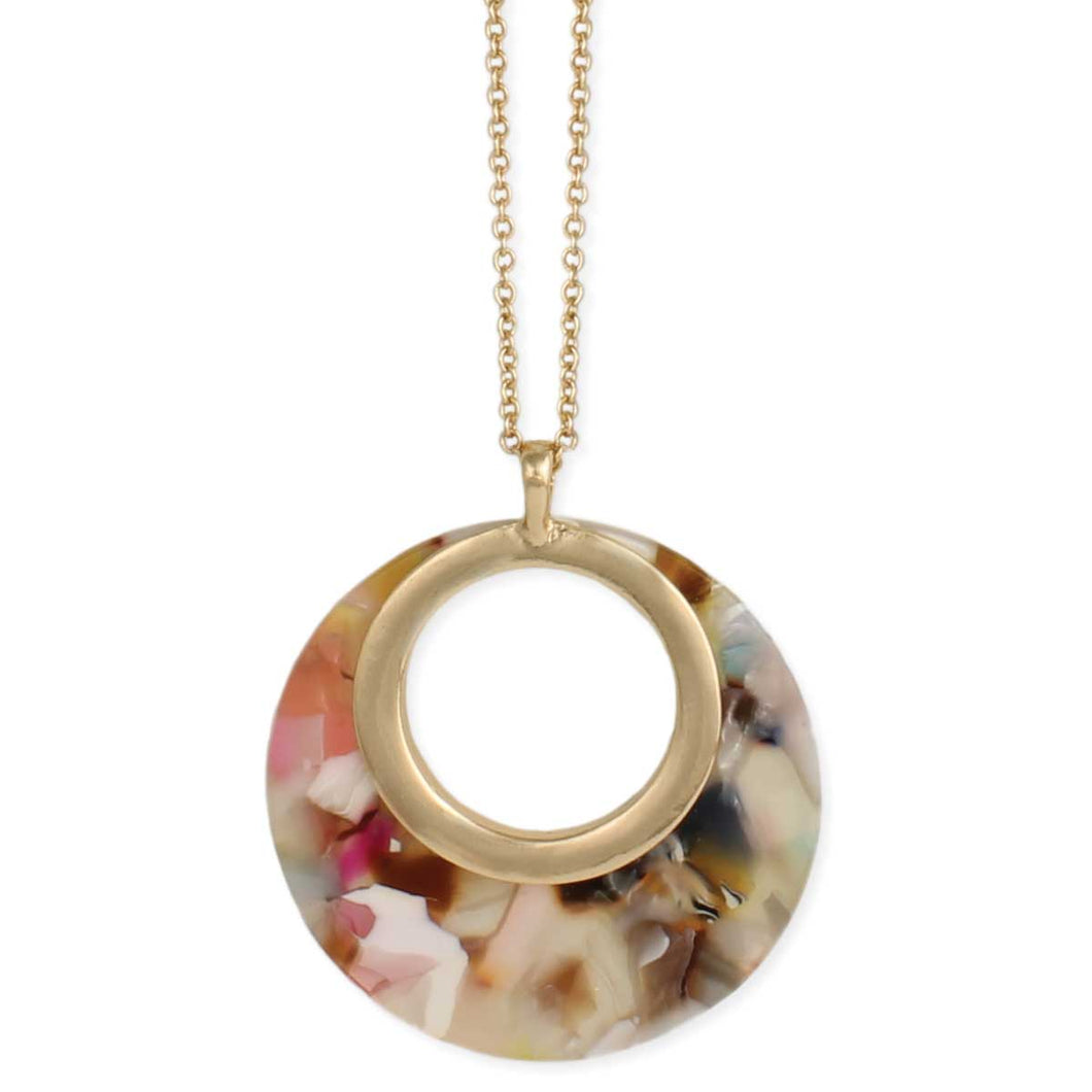 Multi resin circle necklace