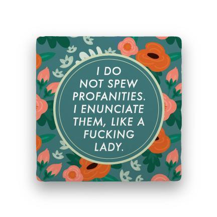Profanities coaster