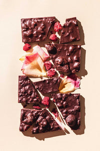 Raspberry Rose Dark Chocolate Bar