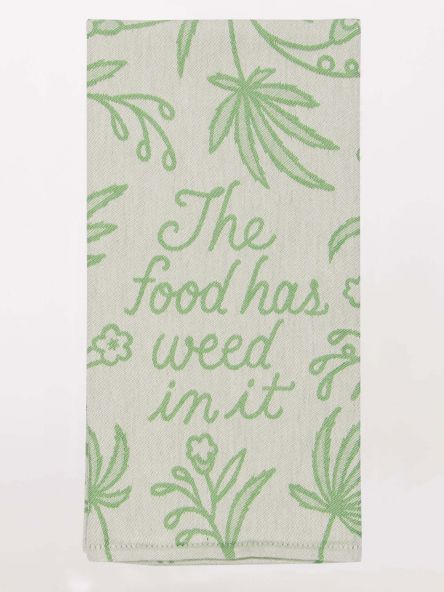 Weed in it woven dish towel