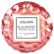 Load image into Gallery viewer, Blackberry Rose Oud Macaron candle