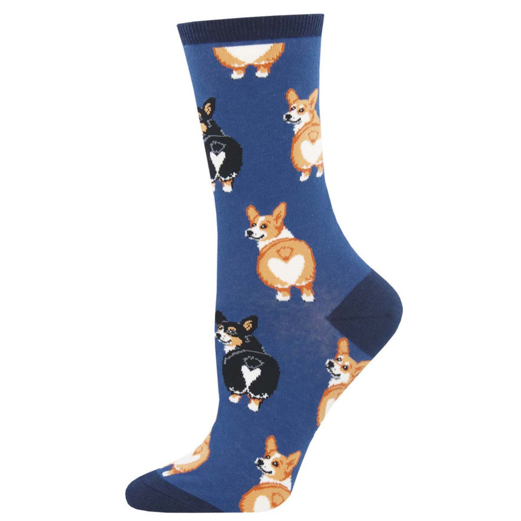 Corgi butt women's socks