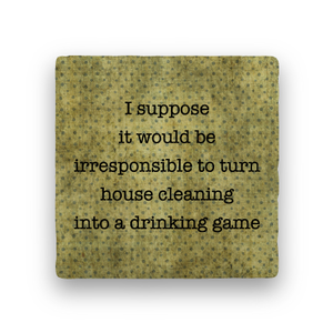 Drinking game coaster