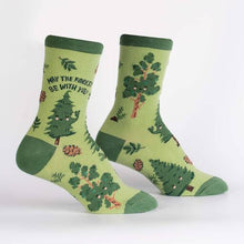 Load image into Gallery viewer, May the Forest Be With You socks