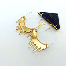 Load image into Gallery viewer, Gold Slime Hoop Earring