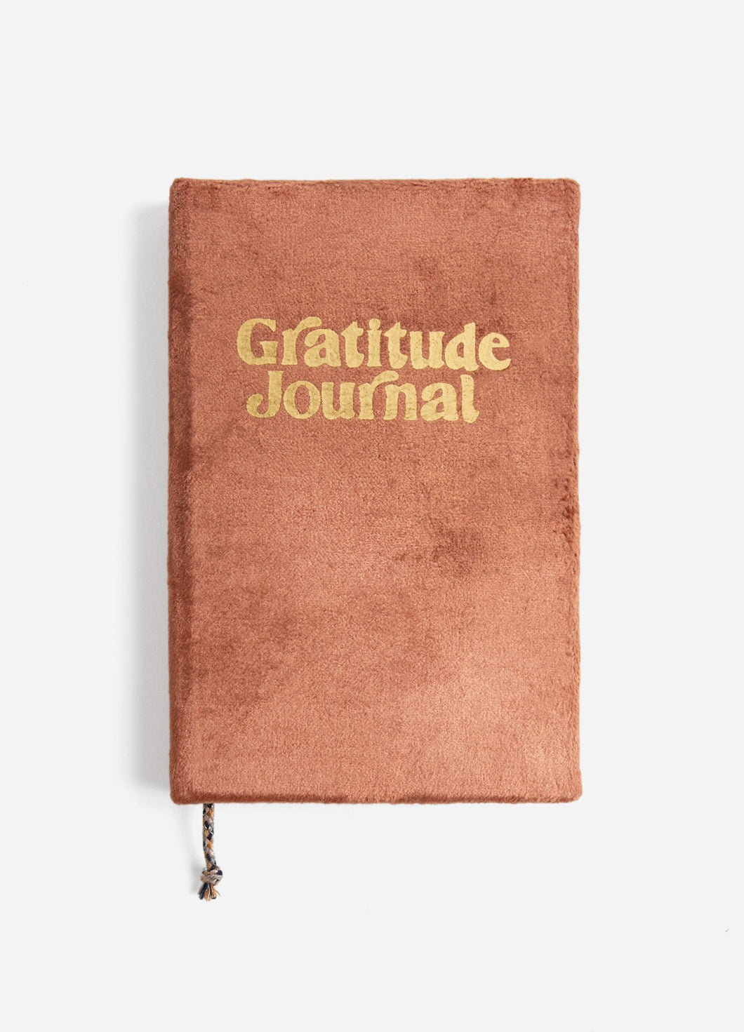 Velvet Gratitude Journal Soft Rust