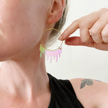 Load image into Gallery viewer, Iridescent Slime Hoop Earring