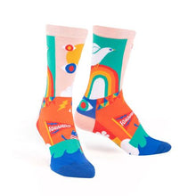 Load image into Gallery viewer, Lisa Congdon Peace and Love socks