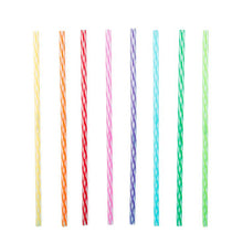 Load image into Gallery viewer, Rainbow reusable straws