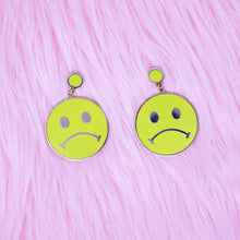 Load image into Gallery viewer, Sad Smiley Face Earrings