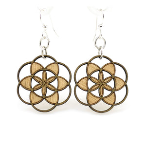 Seed of life blossom earrings