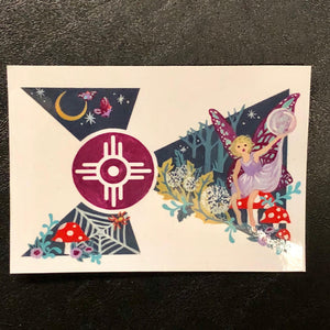 Wichita flag fairy sticker