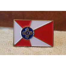 Load image into Gallery viewer, Wichita flag lapel pin