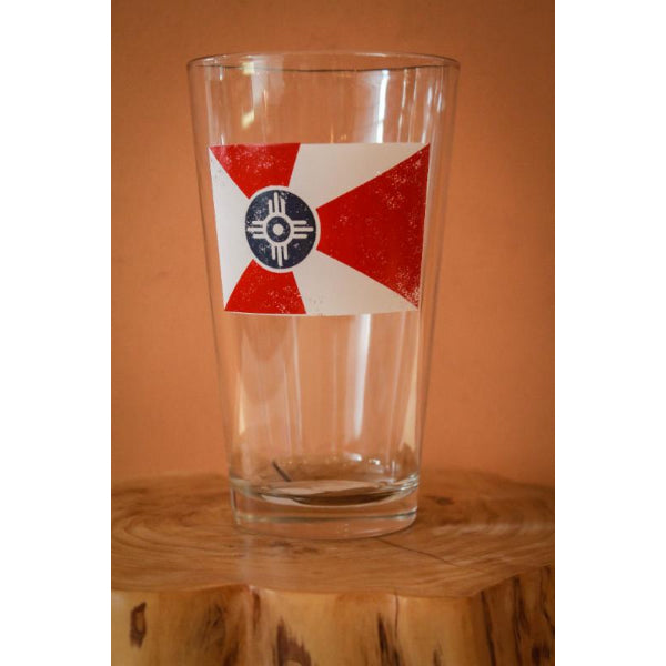 Wichita flag pint glass