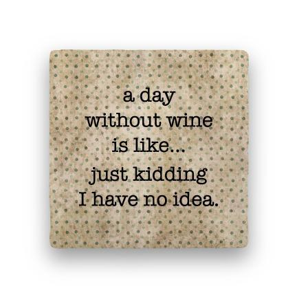Without wine coaster