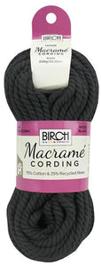 4mm Black Macrame Cording