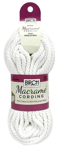 4mm White Macrame Cording