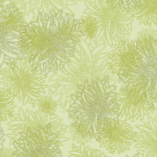 Floral Elements - Green Glow - 50cm