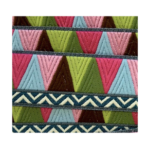 Mosaic Trim 22mm - Brown Pink Green - 50cm