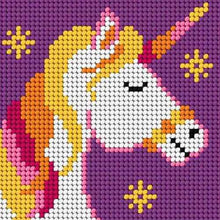 Load image into Gallery viewer, Unicorn Mini Tapestry Kit