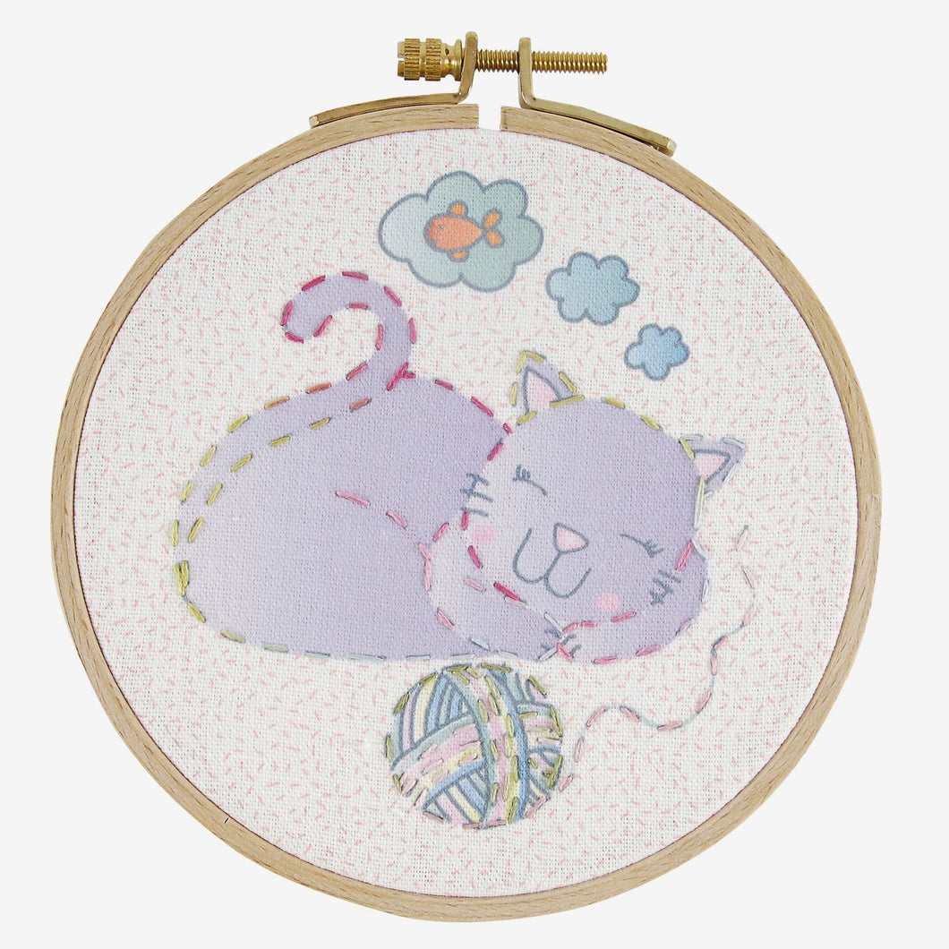 Cat Kid's Craft Hand Embroidery Kit